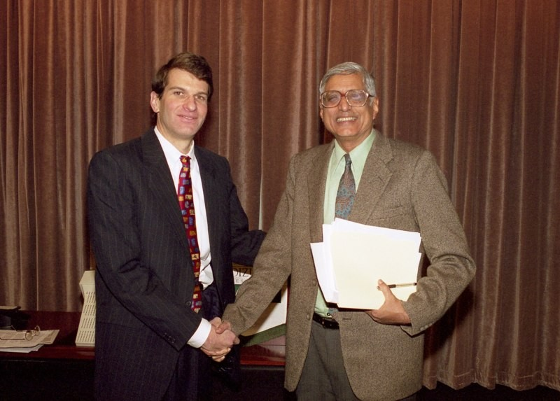 Rajmohan Gandhi, grandson and official biographer of Mahatma Gandhi